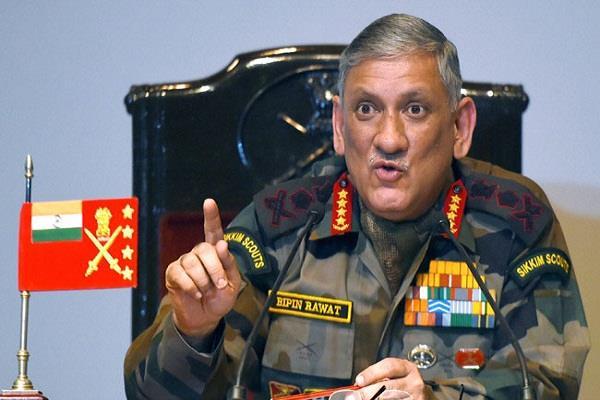 आर्मी चीफ की पाकिस्तान को खुली चेतावनी, आतंकियों को घर में घुसकर मारेंगे