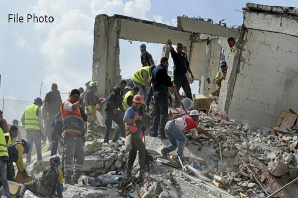 भूकंप के झटकों से तीसरी बार थर्राया मेक्सिको, रिएक्टर स्केल पर 5.9 की रही तीव्रता
