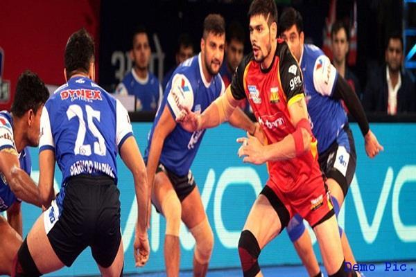 प्रो कबड्डी लीग में हरियाणा ने बेंगलुरु बुल्स को 38-31 से हराया