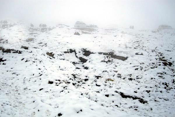 बर्फबारी से चमकी रोहतांग व बारालाचा दर्रे की पहाड़ियां