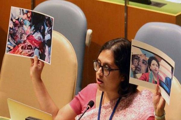 UNGA में पाकिस्तान को करारा जवाब, भारत ने उमर फैयाज की तस्वीर दिखाई
