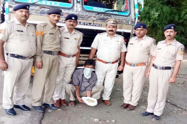 ट्रक से पकड़ी चूरा-पोस्त की खेप, चालक गिरफ्तार