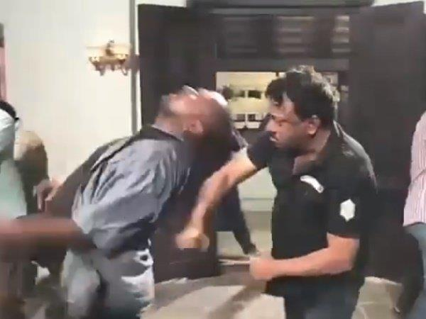 ram gopal verma video goes viral in which he is fighting