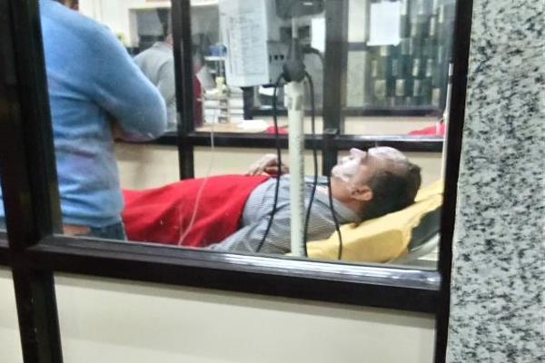 सिप्रिट से लोहड़ी जलाते वक्त झुलसे दो के चेहरे, अस्पताल में उपचाराधीन