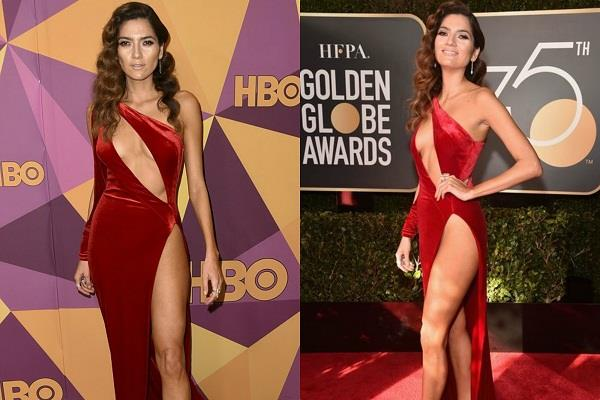 blanca blanco violates the golden globes dress code