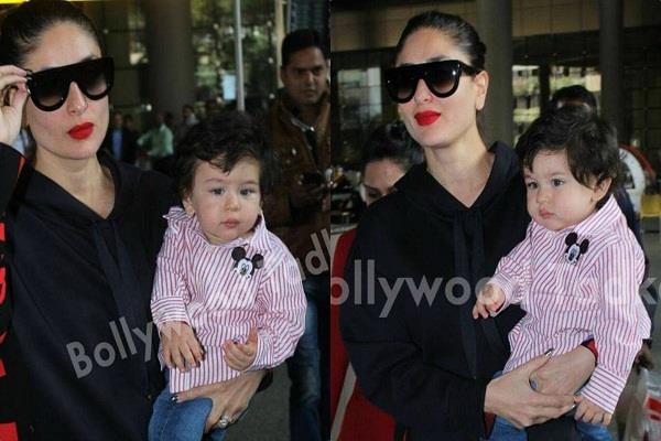 taimur looks sad as he returned with mummy