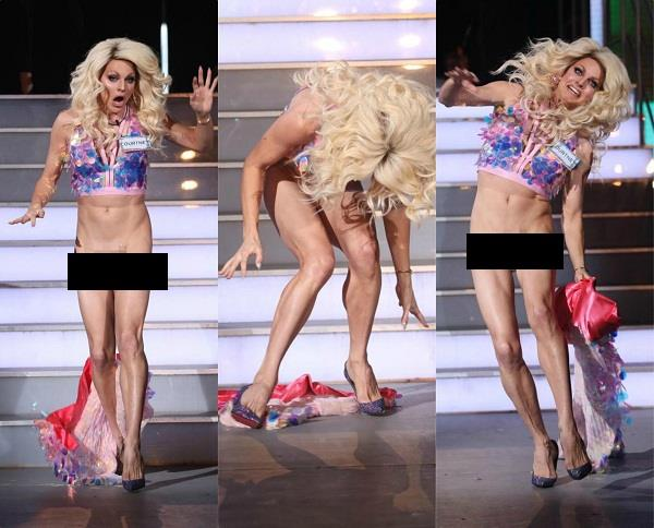 celebrity big brothers courtney act oops moment