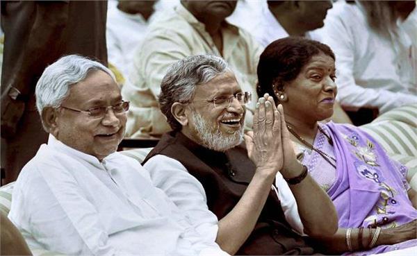 जदयू ने दही-चूड़ा भोज का किया आयोजन, 5 साल बाद भाजपा के मंत्री हुए शामिल