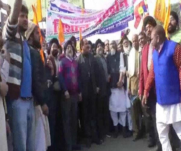 भीमा कोरेगांव में हुई घटना पर कानपुर में निकाला गया रोष प्रदर्शन
