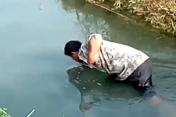 मेरठः नाले में बह रहे नोटों को लूटने के लिए पानी के अंदर उतरे लोग, देखिए तस्वीरें