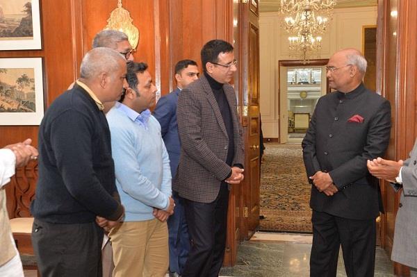 दादूपुर नलवी नहर परियोजना को रद्द न करने के लिए राष्ट्रपति से मिले रणदीप सुरजेवाला