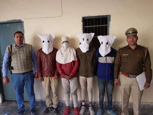 हथियार के बल पर ठेके से लूटपाट करने वाले 4 आरोपी गिरफ्तार