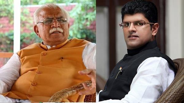 दुष्यंत चौटाला ने ट्वीट कर भाजपा को घेरा, मुख्यमंत्री बोले- डंके की चोट पर करेंगे खर्च