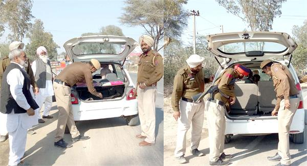 गैंगस्टरों से मिली धमकियों के बाद पुलिस हुई अलर्ट,राजस्थान सीमा पर कड़ी नाकेबंदी