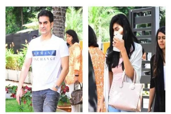 arbaz khan with mystry girl at lunch date