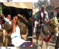 मुजफ्फरनगर: गरीब युवक की पुलिस ने करवाई शादी, थाने से निकली बारात