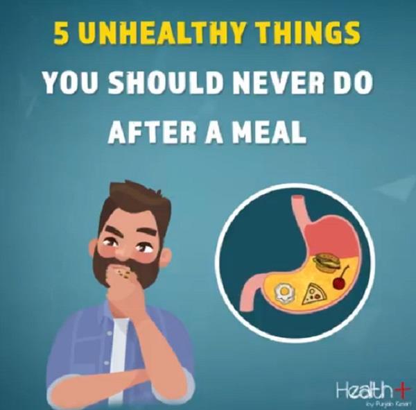 खाने के बाद न करें ये 5 गलतियां, पड़ सकती हैं भारी