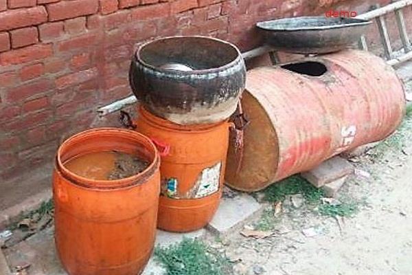 पुलिस ने अलग-अलग मामलों में 600 लीटर लाहन की बरामद, आरोपी फरार