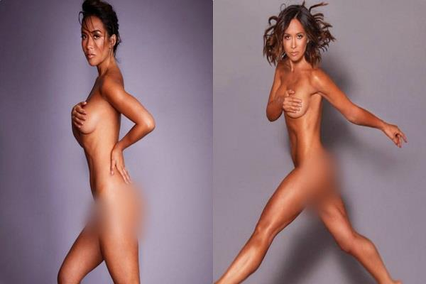 myleene klass sexy photoshoot to promote her fitness dvd