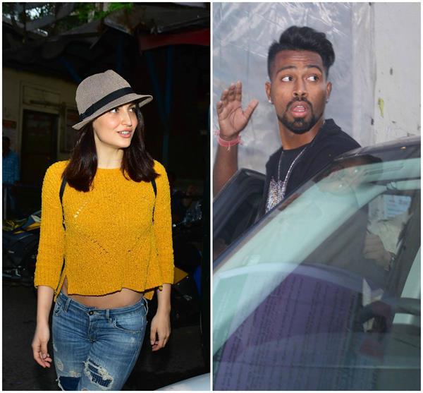 girlfriend elli avram meet on the shoot to meet cricketer hardik pandya