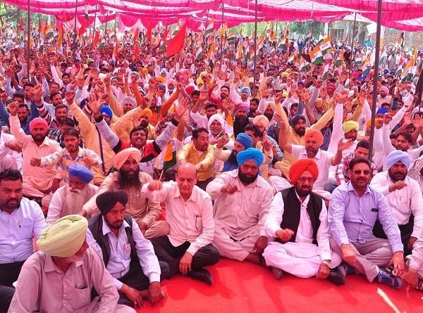 हजारों पल्लेदार मजदूरों ने धरना देकर हिलाया मुख्यमंत्री का शहर