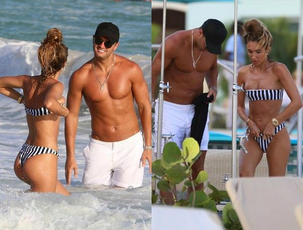 megan mckenna and mike thalassitis show off their toned bodies