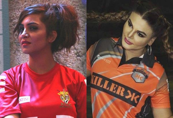 bcl 2018 rakhi sawant and arshi khan dance video viral