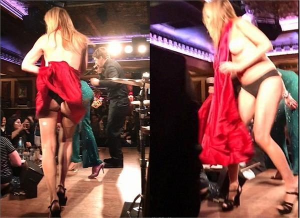 sonja morgan loses her dress as she dances