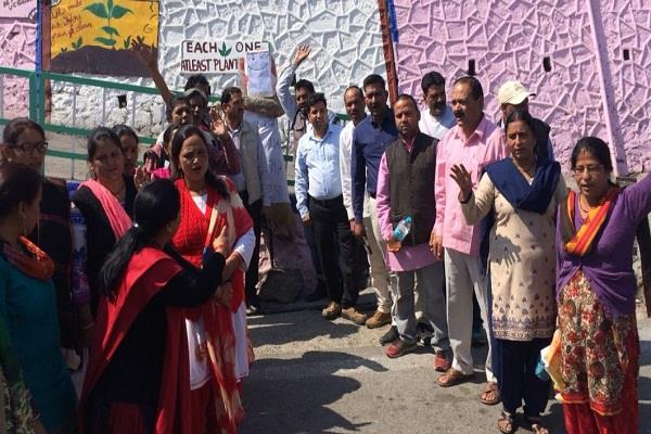 भाजपा विधायक की गिरफ्तारी के लिए प्रदर्शन, राज्यपाल को सौंपा ज्ञापन