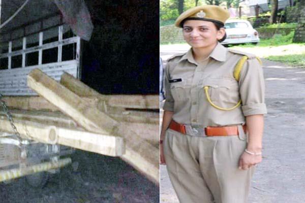 आधी रात को बिना हथियार वन माफिया से भिड़ गई महिला Forest Guard, लकड़ी से भरी जीप पकड़ी