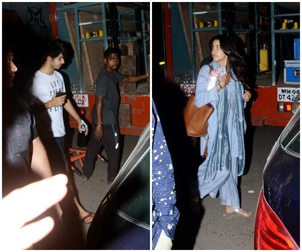 latest pictures of jahnvi kapoor and ishaan khatter