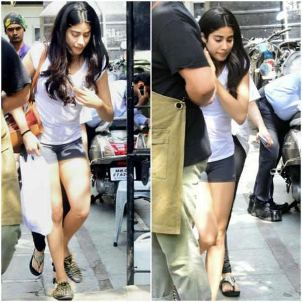 janhvi kapoor in shorts looking hot