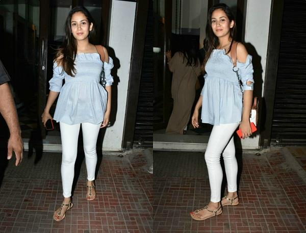 mira rajput cute baby bump pictures