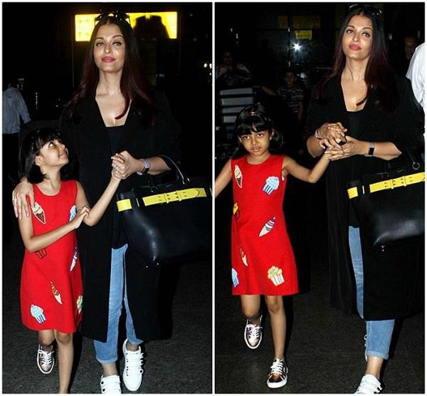कांस में जलवे बिखेर मुंबई वापिस लौटी एेश्वर्या, बेटी के साथ हुईं स्पॉट