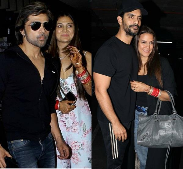angad neha and himesh soniya return back from honeymoon