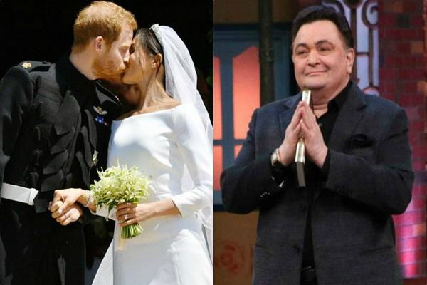 rishi kapoor share funny video on the wedding of megan prince