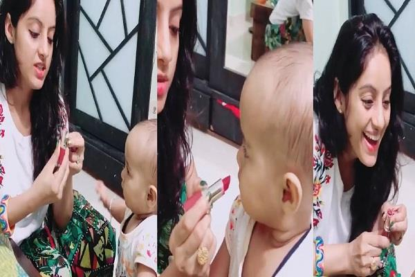 deepika singh gets troll for applying lipstick to her niece