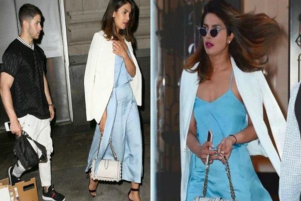 priyanka chopra with boyfriend nick jonas latest at dinner date