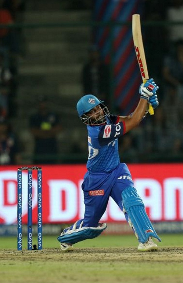 Prithvi shaw Third Batsman to out on 99 Run in IPL history