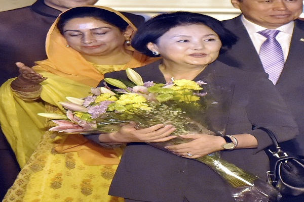 south korea s first woman arrives in india