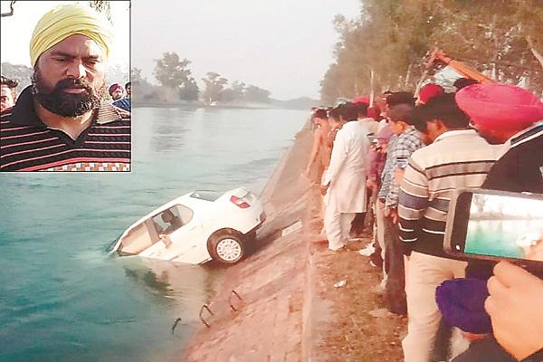 PunjabKesari, Car falls in Bhakra Canal, brother and sister died