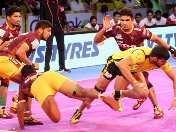 PunjabKesari, sports news, Kabaddi news hindi, Pro Kabaddi League2018, UP Warrior, Telugu Titans, Draws