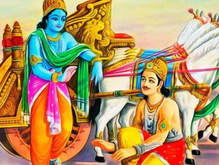 PunjabKesari, Geeta Jayanti 2019, श्रीमद्भगवद्गीता, gita jayanti 2019, गीता जयंती 2019, geeta jayanti mahotsav 2019, gita jayanti 2019 date, geeta jayanti mahotsav kurukshetra 2019, importance of geeta jayanti, bhagavad gita jayanti 2019, lord krishna and arjun, Geeta updesh in hindi