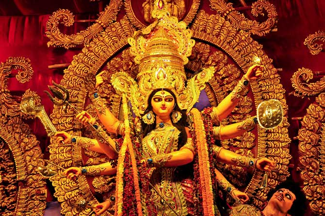 PunjabKesari Maa Durgas idol In Melbourne