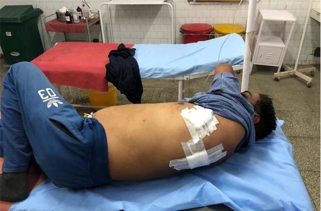 PunjabKesari, family members of farmer injured due to police firing