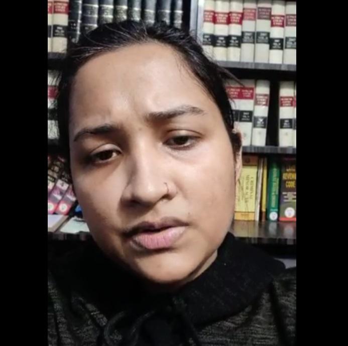 PunjabKesari, Madhya Pradesh News, Bhopal News, Viral Video, Former BJP MLA Surendra Nath Singh, Missing Daughter, Family Charges