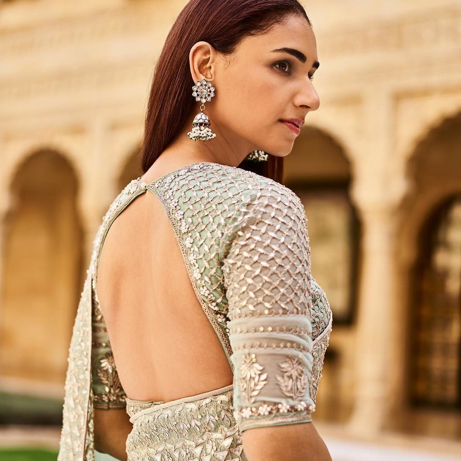 PunjabKesari, Backless blouse ka design image,बैकलेस ब्लाउज का डिजाइनइमेज