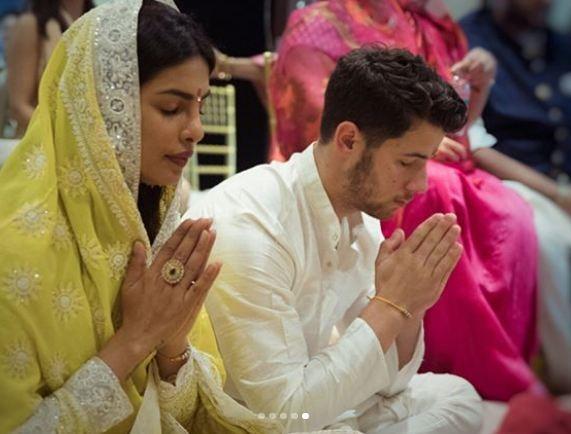 PunjabKesari,प्रियंका चोपड़ा image,निक जोनस image,उम्मैद भवन image,हिंदू और क्रिश्चयन image,रॉयल लुक image,