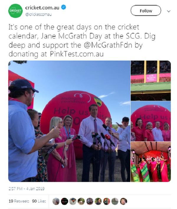 Pcricket news in hindi, Ind vs Aus, Sydney Test, australia former, Glenn mcgrath, Pink Foundation, Team India, Captain Kohli, signature pink cap, Sydney Cricket Ground, completely pink