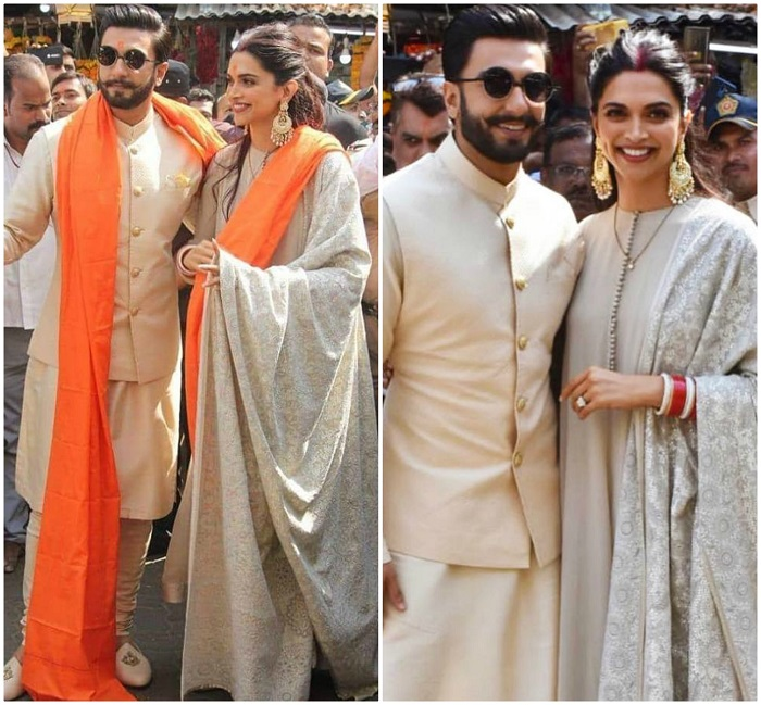 PunjabKesari,ओवरसाइज्ड ईयररिंग्स  इमेज,Deepika Padukone oversized earrings Image, Deepveer Wedding image